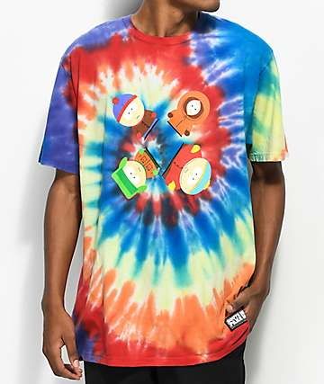 HUF x South Park Trippy Tie Dye T-Shirt