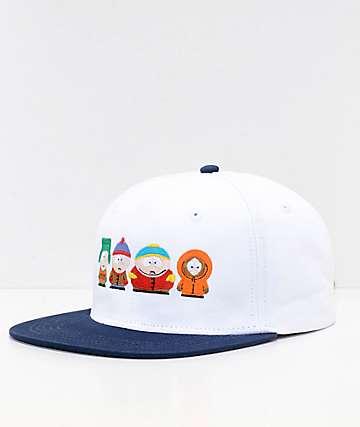 HUF x South Park gorra strapack en blanco