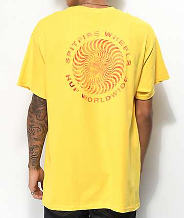 HUF x Spitfire Fire Swirl Yellow T-Shirt