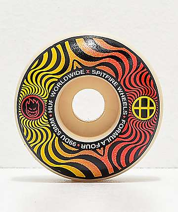 HUF x Spitfire Formula Four Swirl 53mm 99a Skateboard Wheels