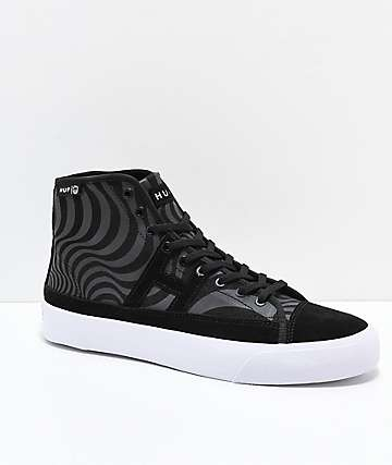 HUF x Spitfire Hupper 2 Hi Black & White Skate Shoes