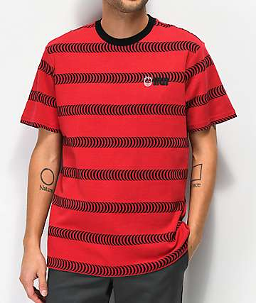 HUF x Spitfire Striped Red Knit T-Shirt