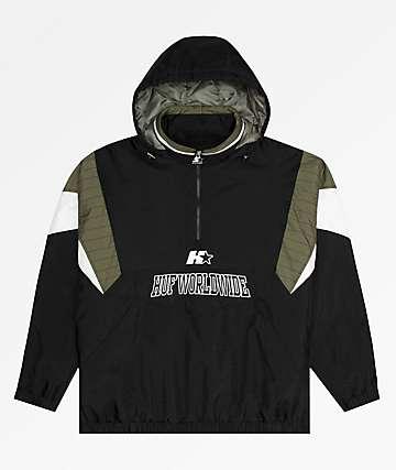 HUF x Starter Breakaway Black Anorak Jacket