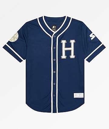 HUF x Starter Navy Baseball Jersey