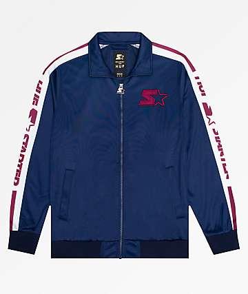 HUF x Starter Navy Track Jacket