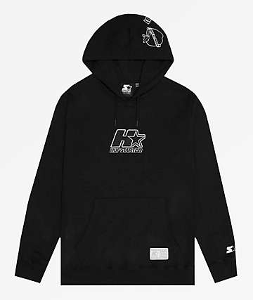 HUF x Starter Patches Black Hoodie
