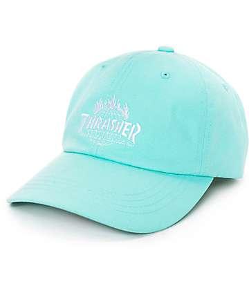 HUF x Thrasher TDS Mint 6 Panel Hat