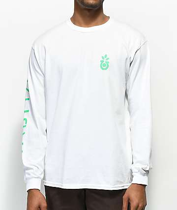 Habitat Bloom Traces White Long Sleeve T-Shirt