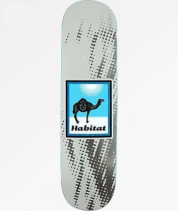 "Habitat Camel Logo 8.125"" Silver Skateboard Deck"