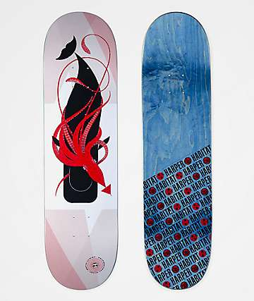"Habitat Kevin Lowry Squid Whale 8.25"" Skateboard Deck"