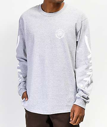 Habitat Laurel Grey Long Sleeve T-Shirt