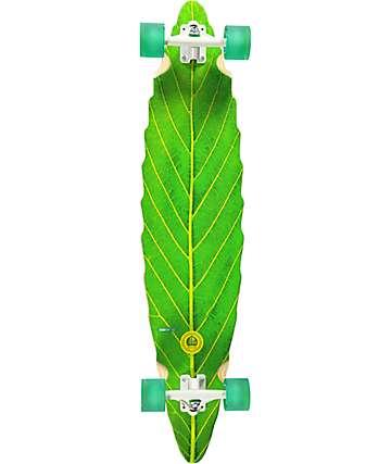 "Habitat Leaf Lines Green 41"" longboard completo"