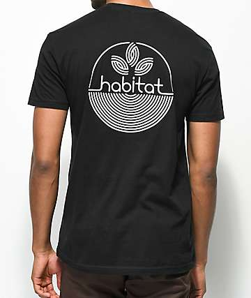 Habitat Line Logo camiseta negra