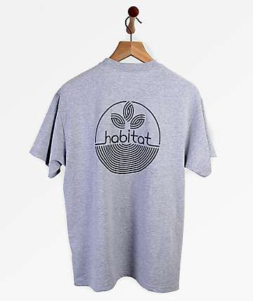 Habitat Lines Logo Heather Grey T-Shirt