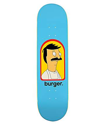 "Habitat x Bob's Burgers Burger. 8.0"" Skateboard Deck"