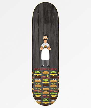 "Habitat x Bob's Burgers Woodgrain 8.25"" tabla de skate"