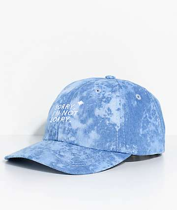 Halfwits Sorry Denim Acid Wash Dad Hat