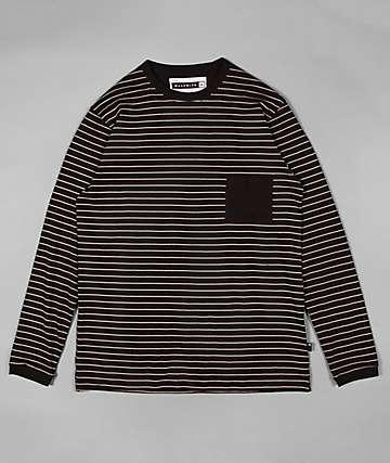 Halfwits Unkin Black & White Striped Knit Shirt