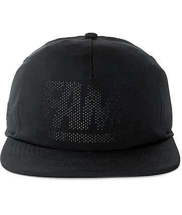 Hall Of Fame Fame Block Black Snapback Hat