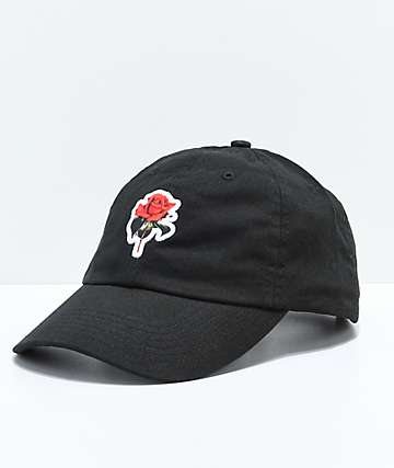 Halsey Red Rose Black Baseball Hat