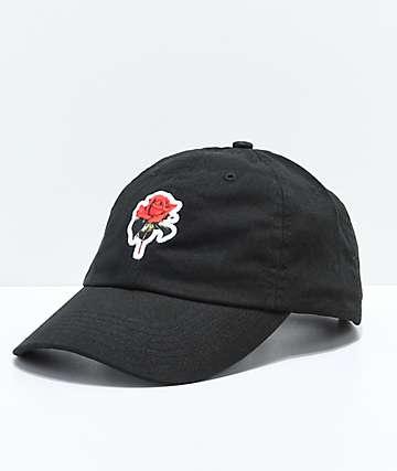 Halsey Red Rose gorra negra de béisbol