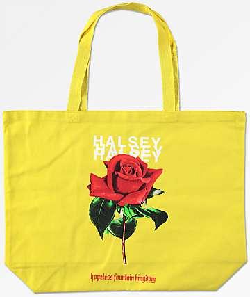Halsey bolso tote amarillo de rosa