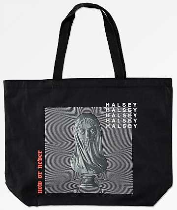 Halsey bolso tote negro de estatua