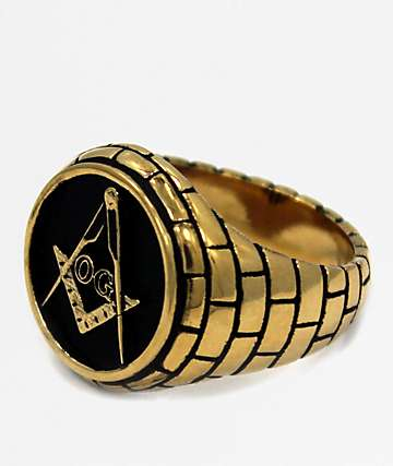 Han Cholo The OG Mason Gold Ring