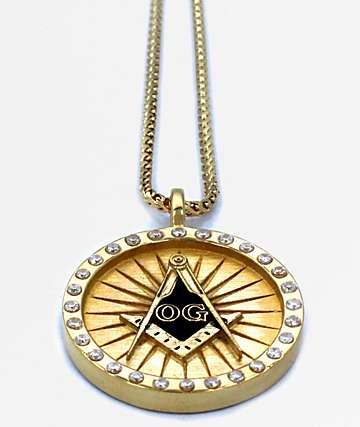 Han Cholo The OG Mason Pendant Gold Necklace