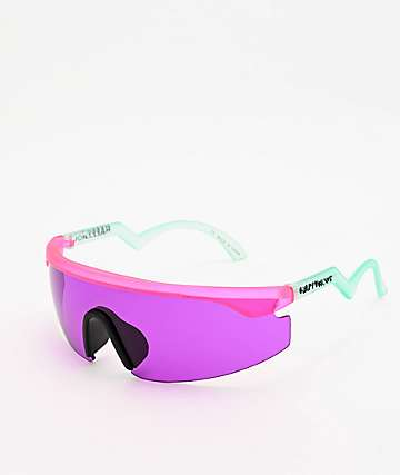 Happy Hour Accelerators Figgy Pink & Turquoise Sunglasses