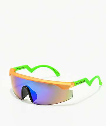 Happy Hour Accelerators Orange & Green Sunglasses