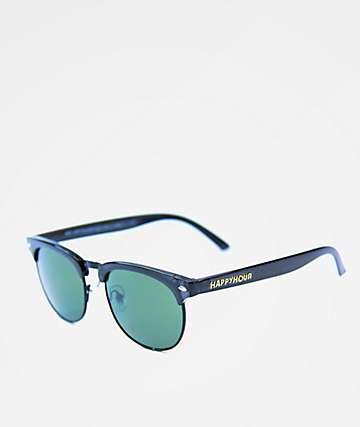 Happy Hour G2 Clear Gloss Black Sunglasses