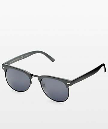Happy Hour G2 Matte Black Retro Sunglasses