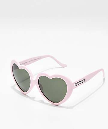 Happy Hour Heart Ons gafas de sol en rosa mate