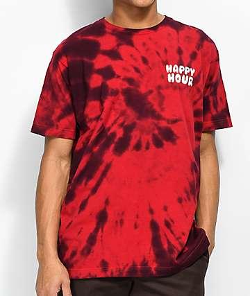 Happy Hour Mr. P Chillin camiseta roja con efecto tie dye