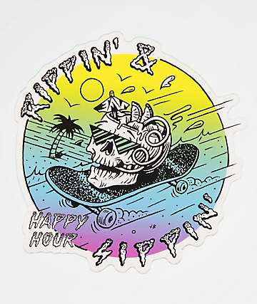 Happy Hour Rippin' & Sippin' Sticker