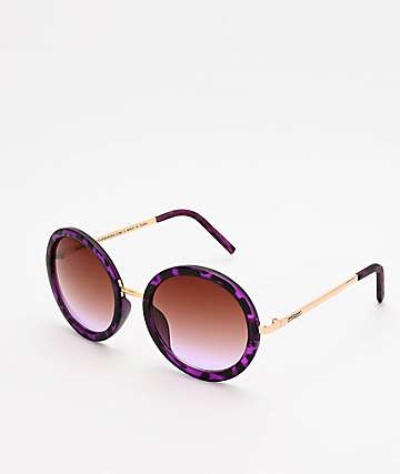 Happy Hour Squares Purple Tortoise Sunglasses