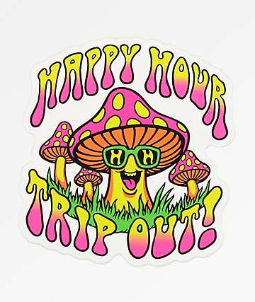 Happy Hour Trip Out Sticker
