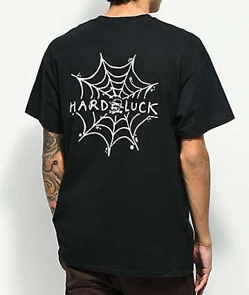 Hard Luck Spider Web camiseta negra