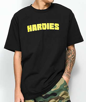 Hardies Hardware Blocks Logo camiseta negra