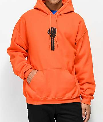 Hardies Hardware Bolt Icon Orange Hoodie