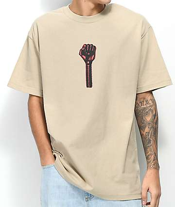Hardies Hardware Bolt Icon Sand T-Shirt