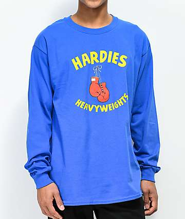 Hardies Hardware Heavy Weights Blue Long Sleeve T-Shirt