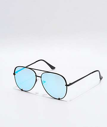 Haven Black and Turquoise Revolution Sunglasses