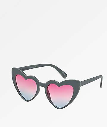 Heart Grey Sunglasses