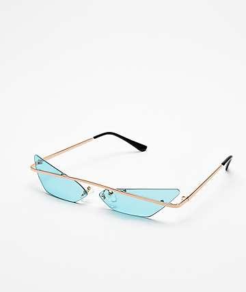 Heat Turquoise Mini Sunglasses