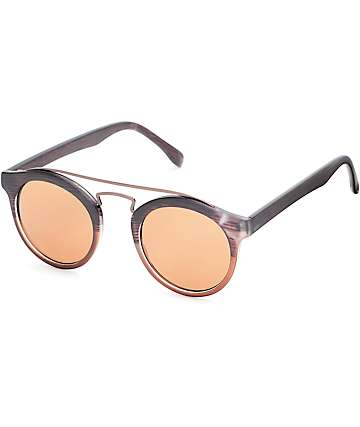 Heather Matte Brown Bar Sunglasses
