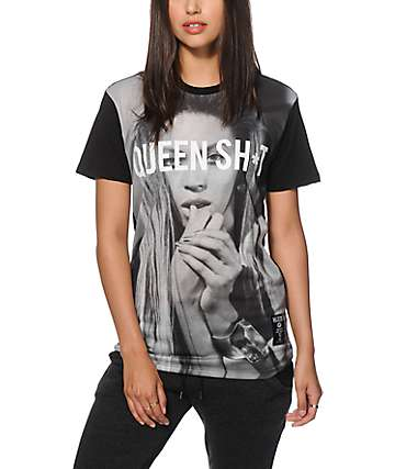 Hellz Bellz Queen Shit Sublimated T-Shirt
