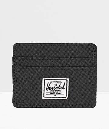 Herschel Charlie Black Cardholder Wallet