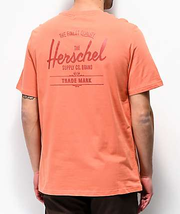 Herschel Classic Logo Orange T-Shirt